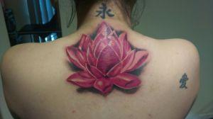 My Lotus tattoo that covered up my Sakura tattoo.